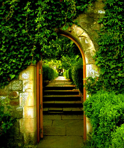 Gateway to the Source of Creation in th Garden
