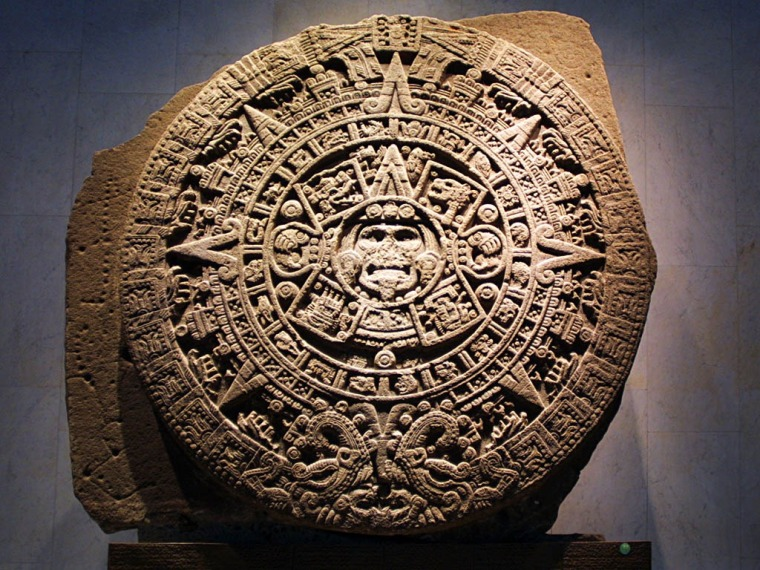 Aztec Sun Stone and the Photon Belt, Star map and calender.