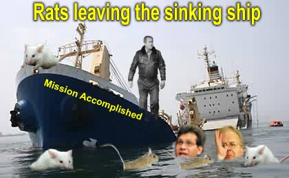 The Rats Deserting the ship. Again there's no Great lose.