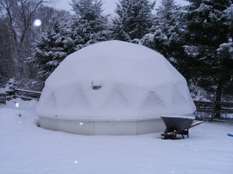 Dome Greenhouses It's Snowing! No problem.