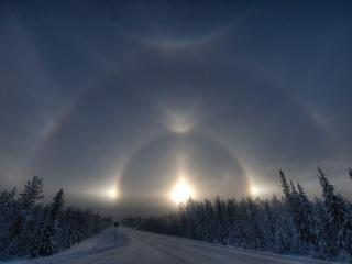 Comets and Hopi ProphecyHalos around the sun