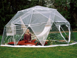 Dome Greenhouses Nursry starts are easy