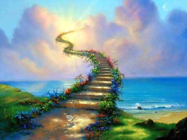 Spiritual stairway to heaven