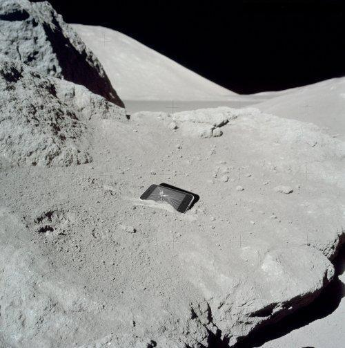 Cell Phone or building on the Moon