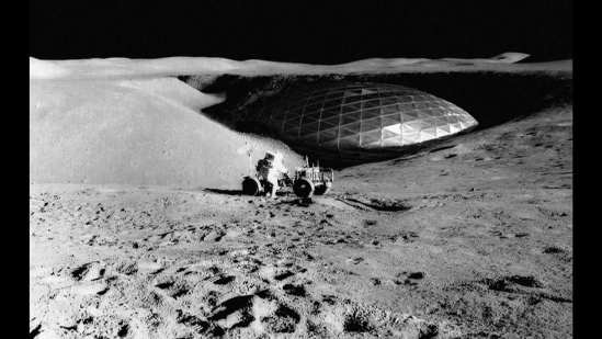 Dome on the Moon
